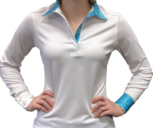 Tailored Sportsman Show Shirt - Turquoise/White Dots