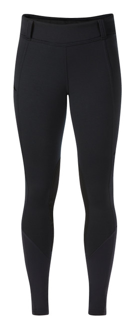 Kerrits Sit Tight Windpro Winter Knee Patch Breech - Black