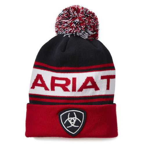 Ariat Team Beanie - Navy/Red