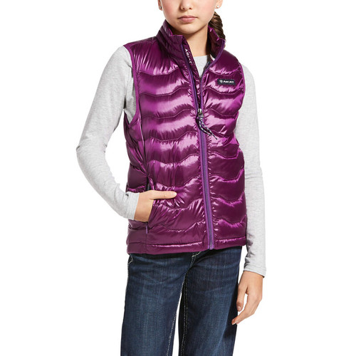 Ariat Girls Ideal Down Vest - Imperial Violet