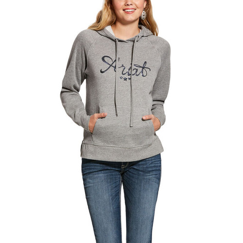 Ariat REAL Sequin Hoodie - Heather Gray