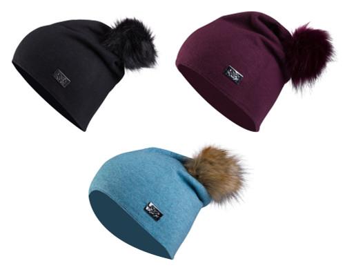B Vertigo Linda Winter hat - Black, Maroon, Blue
