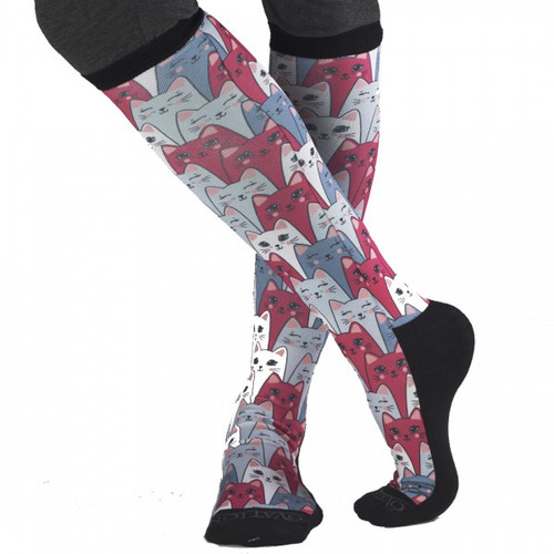 FootZees boot socks - Cats