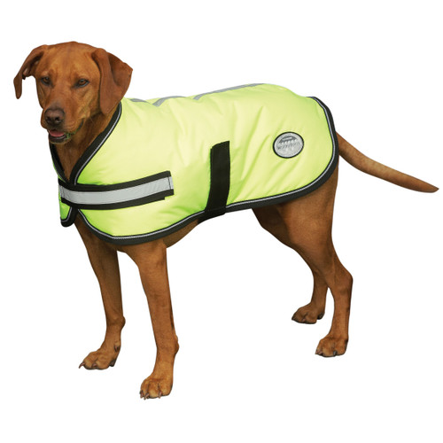 WeatherBeeta Reflective Parka Dog Coat - Yellow