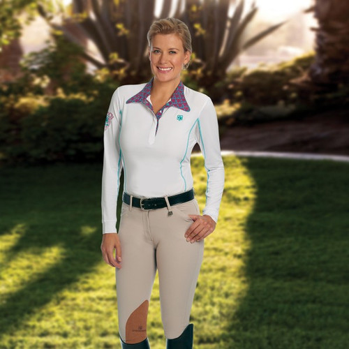 Romfh Sarafina Knee Patch Breeches - Classic White Sand