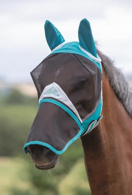 Shires full face fly mask - Teal