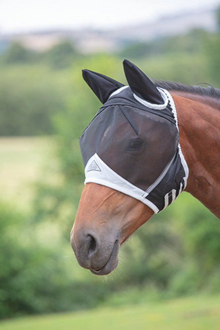 Shires Fine Mesh Fly Mask - Black