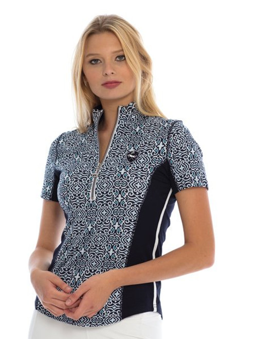 Ideal Show Shirt - Blue Mosaic - Front
