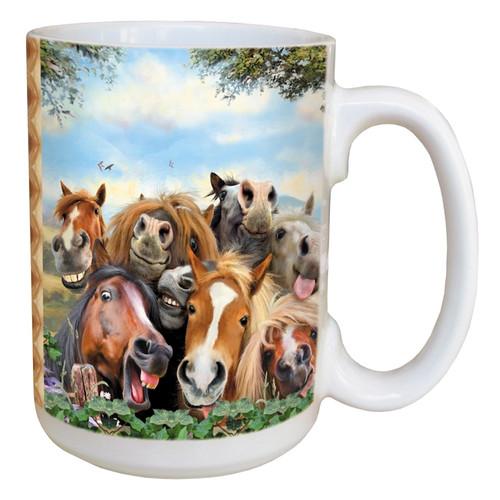 Horses Selfie Coffee Mug