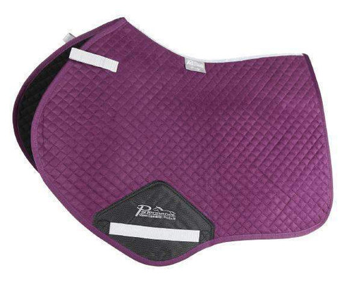 Shires Performance Jump Saddle Pad - Plum