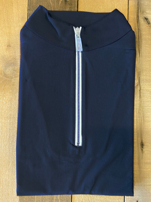 The Tailored Sportsman IceFil Short Sleeve Sun Shirt - Navy/White