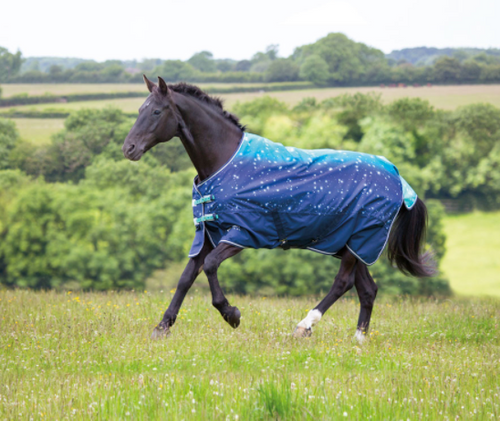 Shires Tempest Lite Turnout Sheet - Blue Nebular