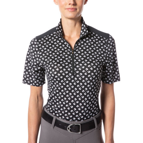 Kerrits Ice Fil Lite Short Sleeve Shirt - Print - Front