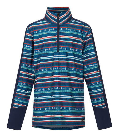 Kerrits Kids Fair Isle Fleece Tech Top - Navy