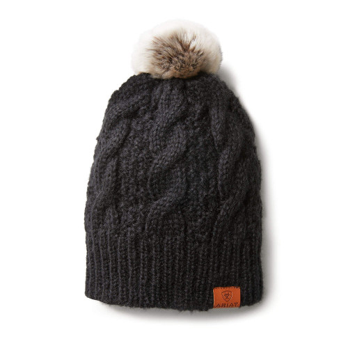 Ariat Cable Beanie - Black