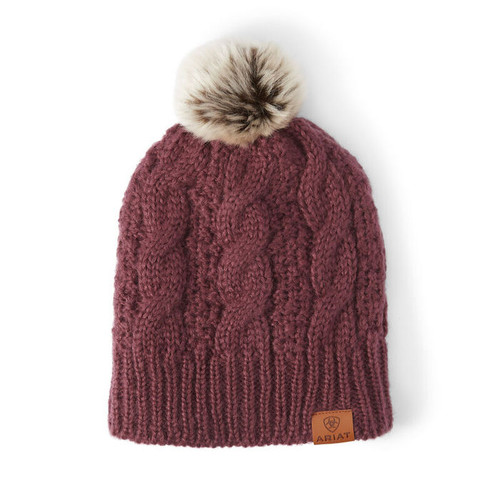 Ariat Cable Beanie - Windsor Wine