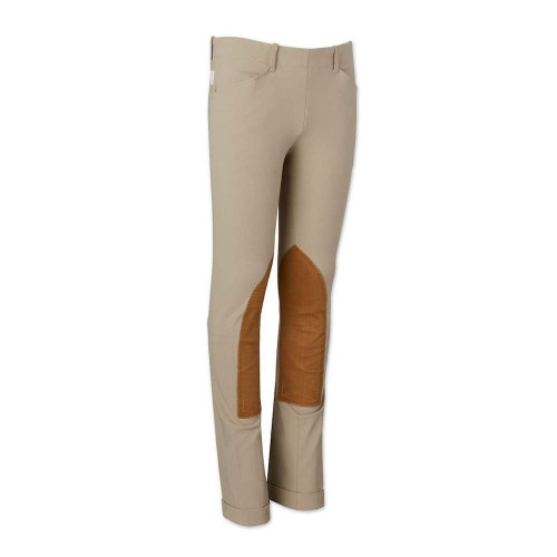 The Tailored Sportsman Kids Trophy Hunter Front Zip Jods - Tan
