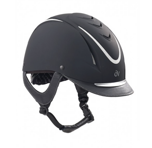 Ovation Z-6 Glitz Riding helmet - Black/Silver