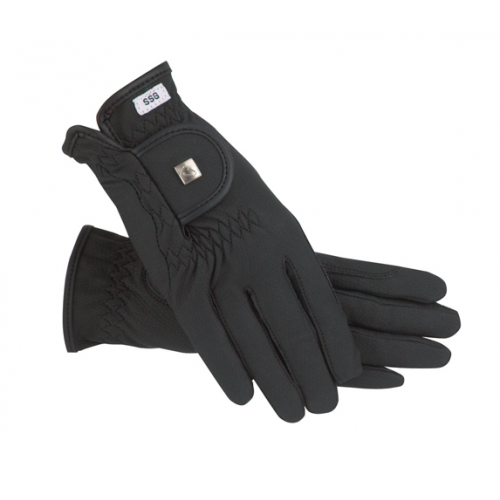 SSG Soft Touch Lined Winter Riding Gloves - Black