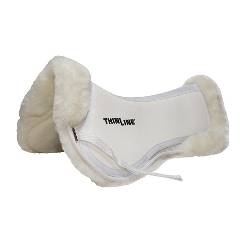Thinline Trifecta Full Sheepskin Half Pad - White