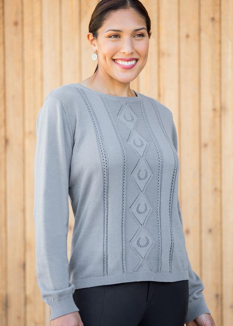 EQL Lucky Organic Cotton Sweater - Ash Blue