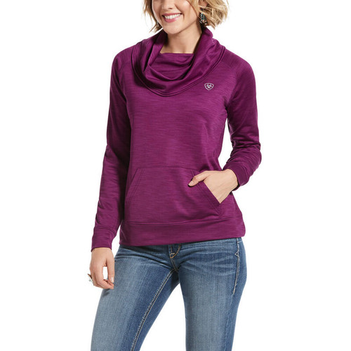 Ariat Conquest Cowl Neck Sweatshirt - Imperial Violet