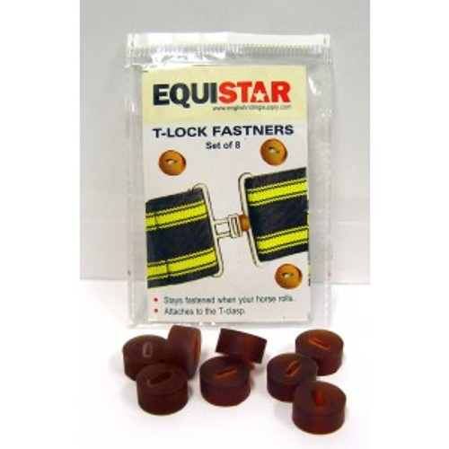 Equistar rubber surcingle t-lock blanket fasteners