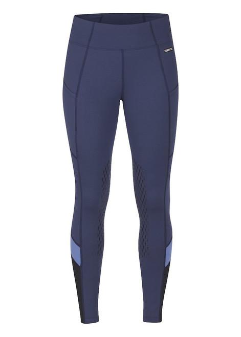 Kerrits Freestyle Knee Patch Pocket Tight - Indigo/Bluebird