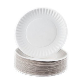 "Eilat  - 6"" White Paper Plate - 1000/Case"