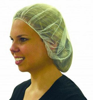"Ronco 1818 - 21"" White Hairnets Polyester Mesh"
