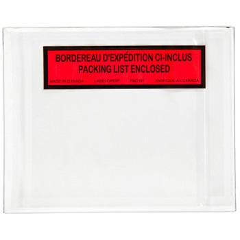 Belle-Pak - FBC101 - Packing Slip Envelope Backload - 4.25X5.5 - Bilingual - 1000/Case