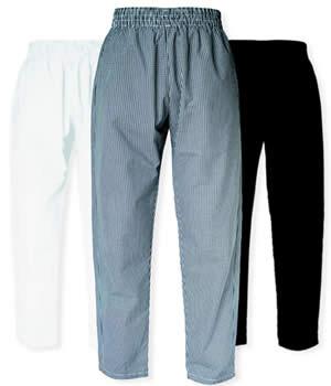 CI21902 Large - **Black** Chef Pants Large - Each