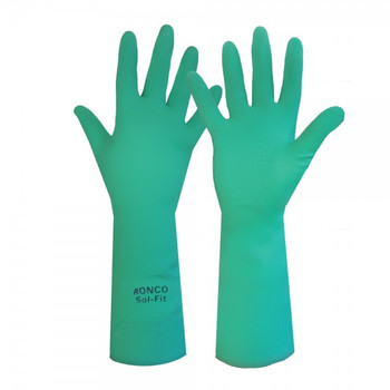 Ronco - 19-923-10 - Extra Large Nitrile Green Long Heavy Duty 15Mil - 12 Pair/Pack