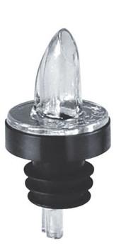 JR - 7786 - Plastic Clear Continuous Flow Pourer W/Collar