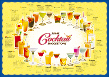 Sanfacon - 539 - Cocktail Placemats - 1000/Pack