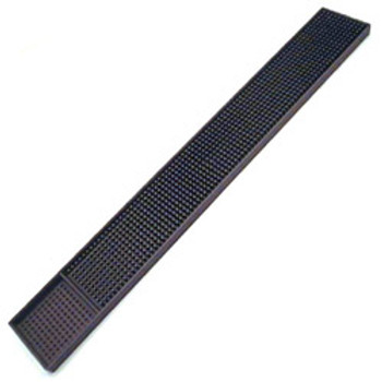 "JR - 7960 - Rubber Bar Mat - 27"" x 3.25"" (Black)"