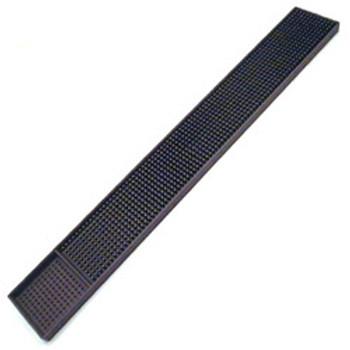 """JR - 7960 - Rubber Bar Mat - 27"""" x 3.25"""" (Black)"""