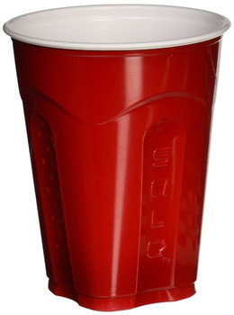 Dart Solo - 18 oz Squared Red Cups, Retail Pack, 12 x 30/pack - 360/Case