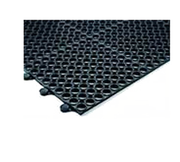 """JR - 7963 - Connecting Mats, 36"""" X 36"""" X 3/8"""" Thick, Grease Resistant, Non-Slip, Rubber, BLA"""