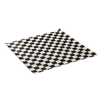 "12"" X 12"" Black Checker Paper - 1000/pack"