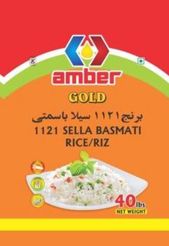 Amal - 1121 Sella Basmati Rice - Family Pack, 40 lbs Bag