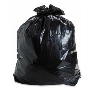 AMBER 30 x 38 Strong  Black Garbage Bags 200/cs