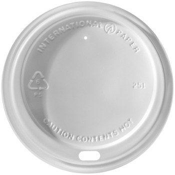 International Paper - LHRDS-16 - Carte Blanc (White) Sipper Dome Lid - 1200/cs