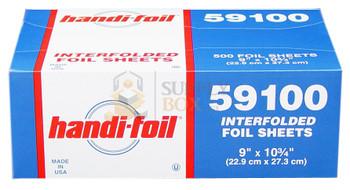 HFA - 59100 - 9 x 10.75 Interfold Aluminum Foil Pop-up Sheets