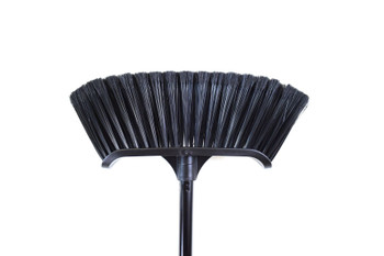 "Globe 4009 14"" Premium Magnetic Curved Broom With 48"" Metal Handle"