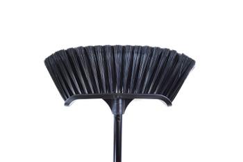 "Globe 4009 14"" Premium Magnetic Curved Broom With 48"" Metal Handle"