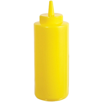 Winco - PSB-08Y - 8 Oz Yellow Squeeze Bottles Plastic - 6/Pack