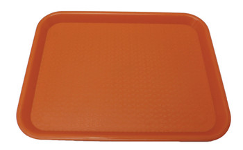 "Johnson Rose - 86127 - Plastic Food Service Tray Orange 12"" X 16"" - Each"
