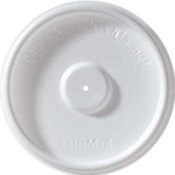 International Paper - LHRM-4 - 4 oz Flat Vented Lid - 1000/cs