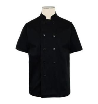 Bodyguard - CI22139SS XL - Black Chef Coat, Short Sleeve